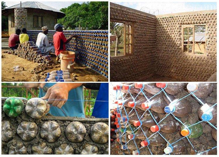 61.-Tehnologiya-stroitelstva-zhilyih-domov-v-Afrike Поделки из пластиковых бутылок (77 фото)