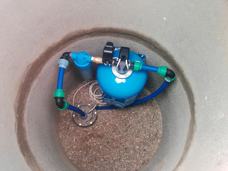 оборудование скважины без кессона