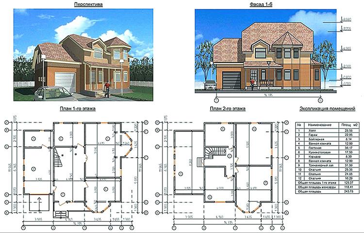 От проекта к строительству: планы двухэтажных домов
