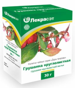 Упаковка с лекарственным растением