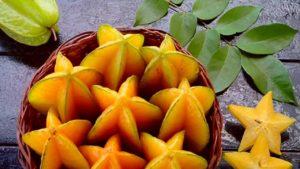 Желтые фрукты, листья