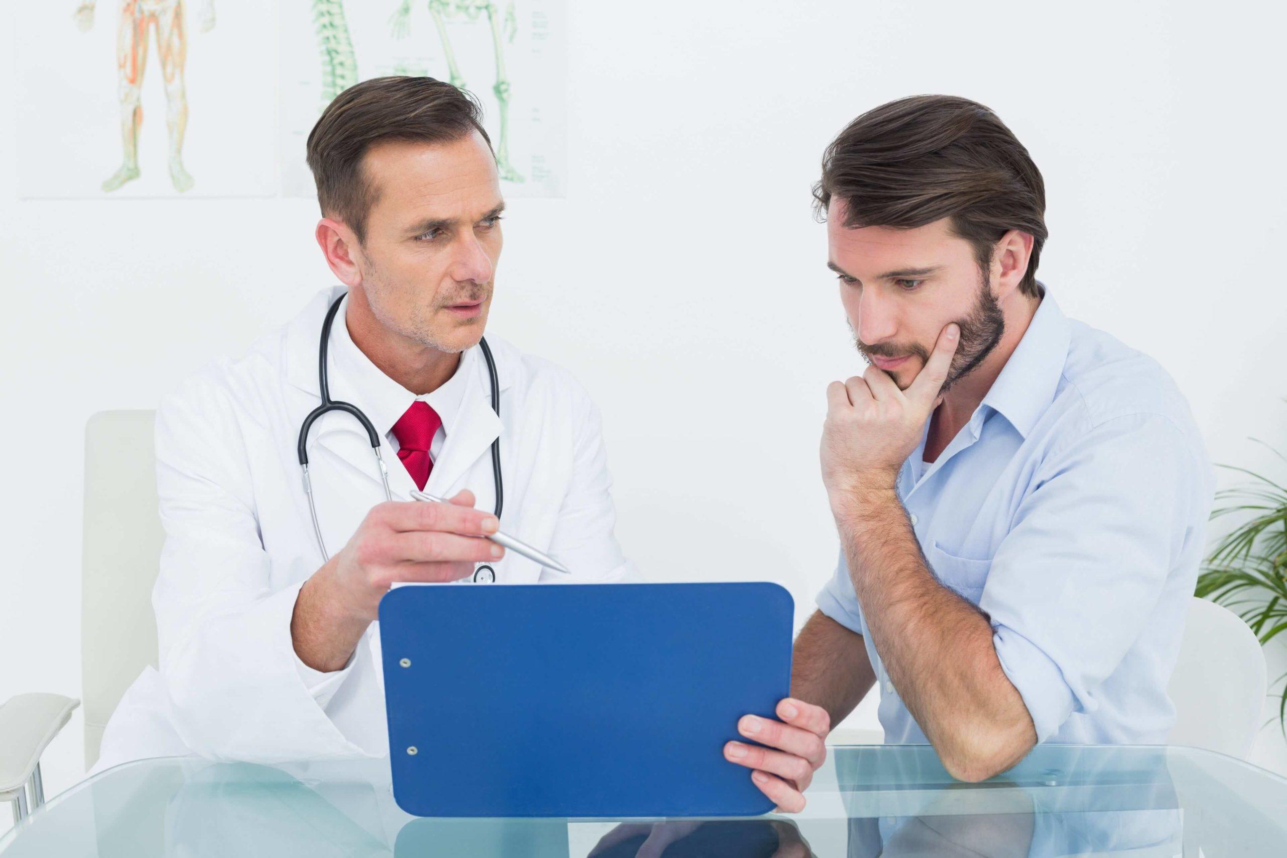 Врач и пациент мужчина