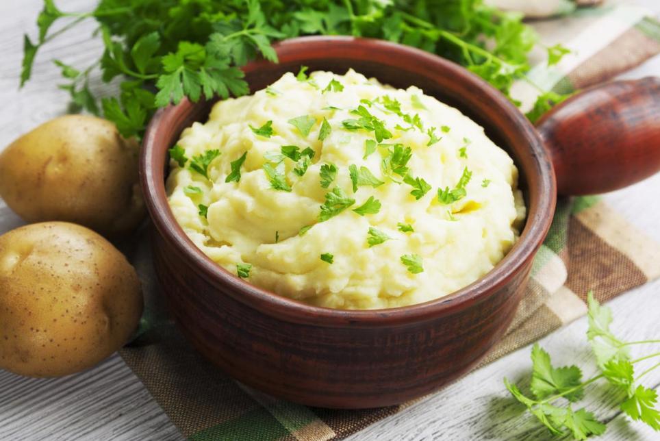 Картофельное пюре с кинзой