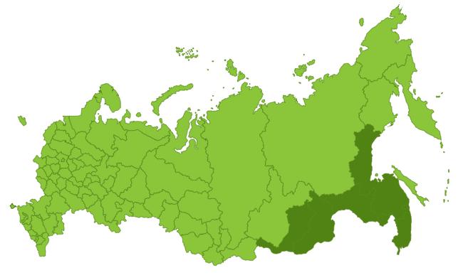 Регионы распространения Леспедецы