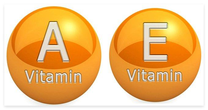 Наличие в железнице витаминов А и Е