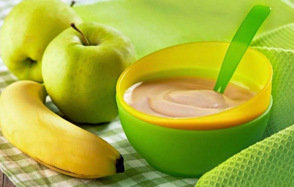 Пюре с бананом с фруктами
