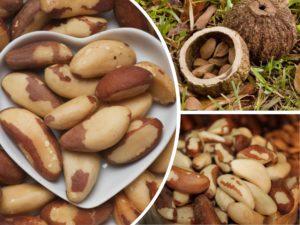 тарелка в форме сердца, орехи