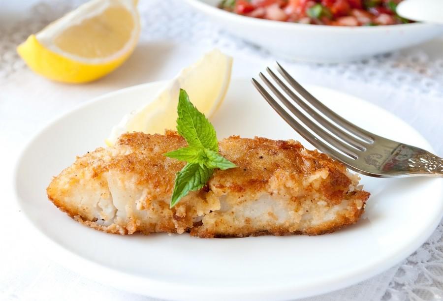 Жареное филе рыбы