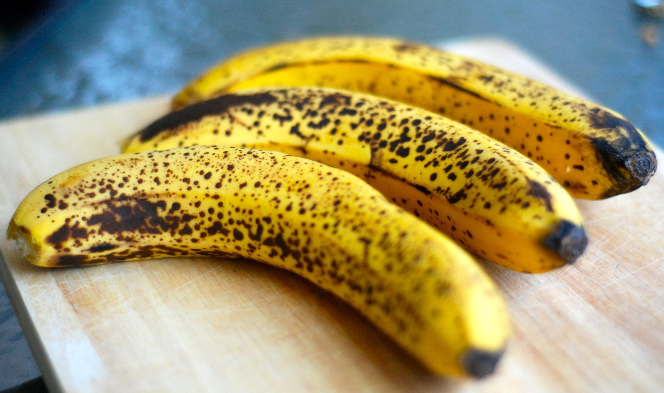 Шкурка банана почернела