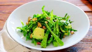 Тарелка, еда, салат, зелень