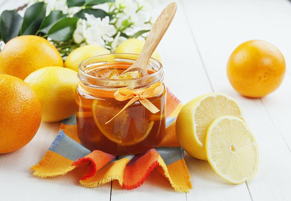 Лимон, апельсин и мед