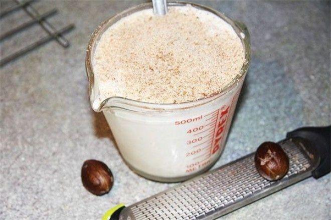 Молоко с мускатным орехом