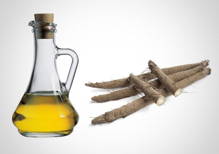 Корень лопуха и оливковое масло