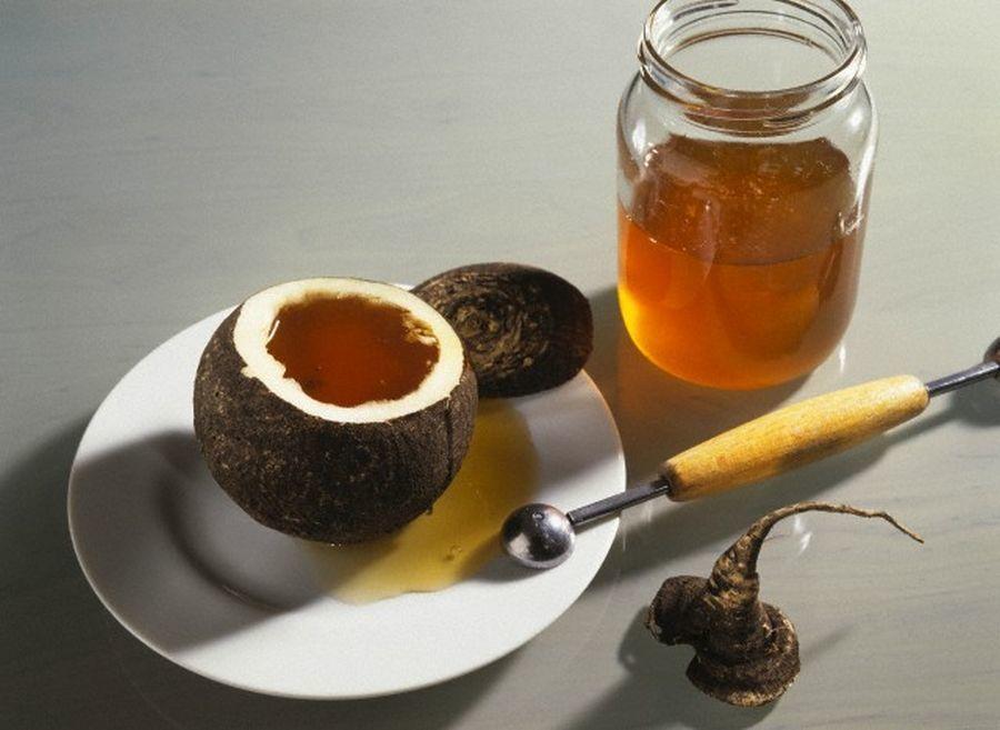 Мед с соком черной редьки