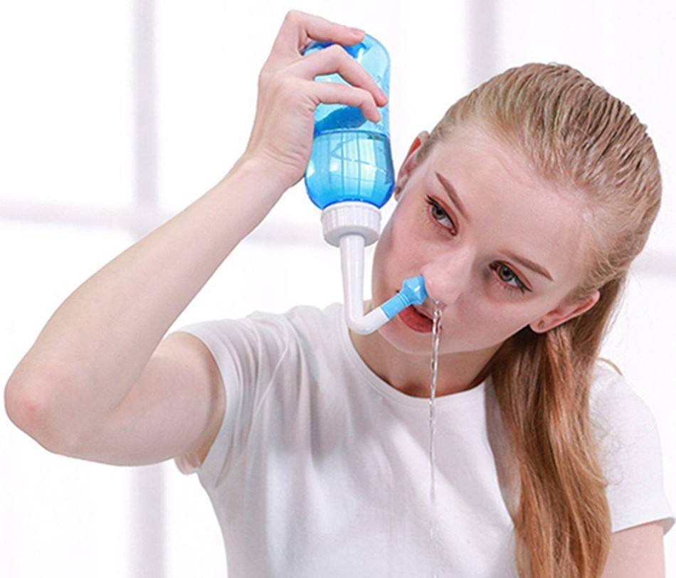 Промывание полости носа