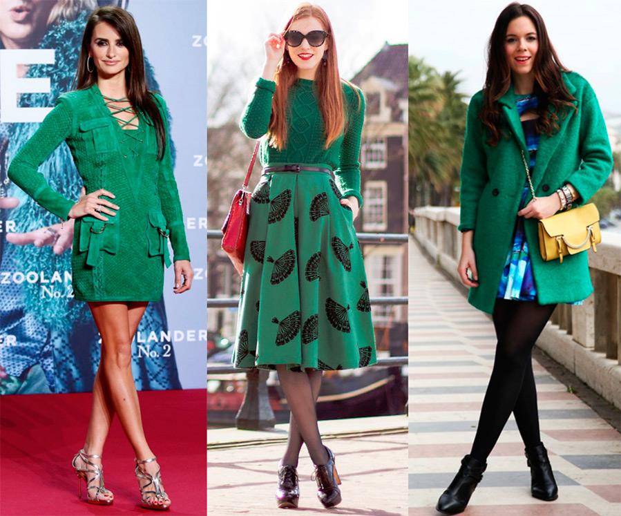 Темно-зеленый цвет одежды