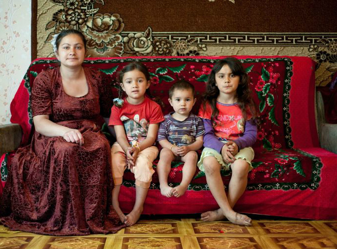 Цыганская семья