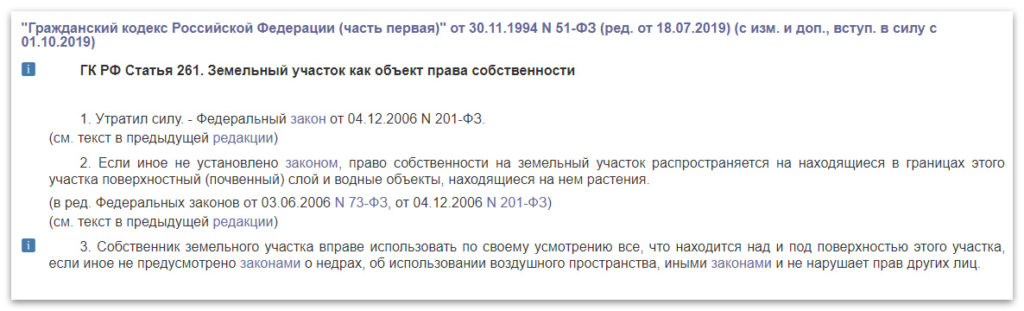 Статья 261 ГК РФ