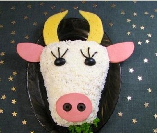 Блюдо в виде быка