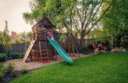 двор, трава, детская площадка
