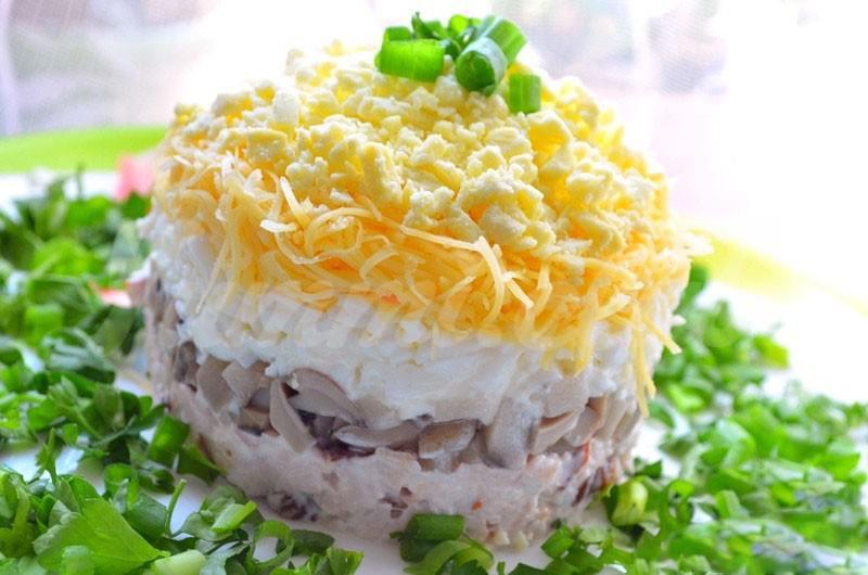 Вкусный салат Белая ночь