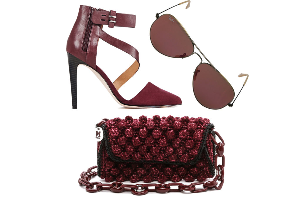 Сумочка туфли бордового цвета
