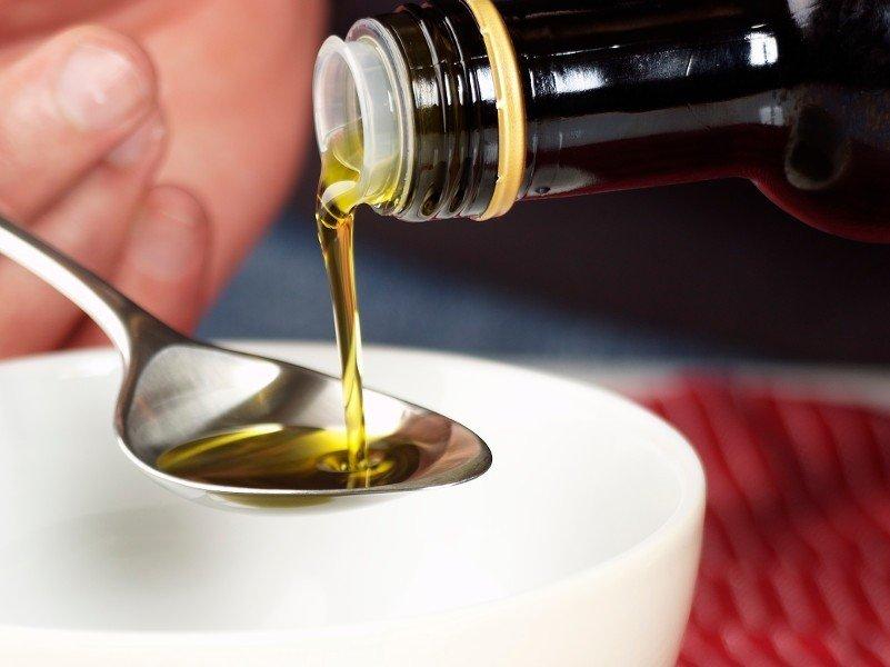 рассасывание растительного масла