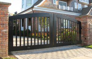 ворота, двор, дом