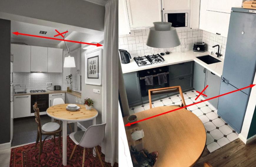 Объединение кухни и жилого помещения