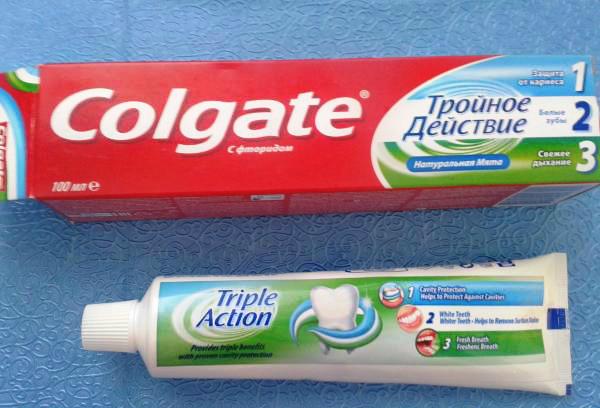 Намазать пятки мазью на основе зубной пасты
