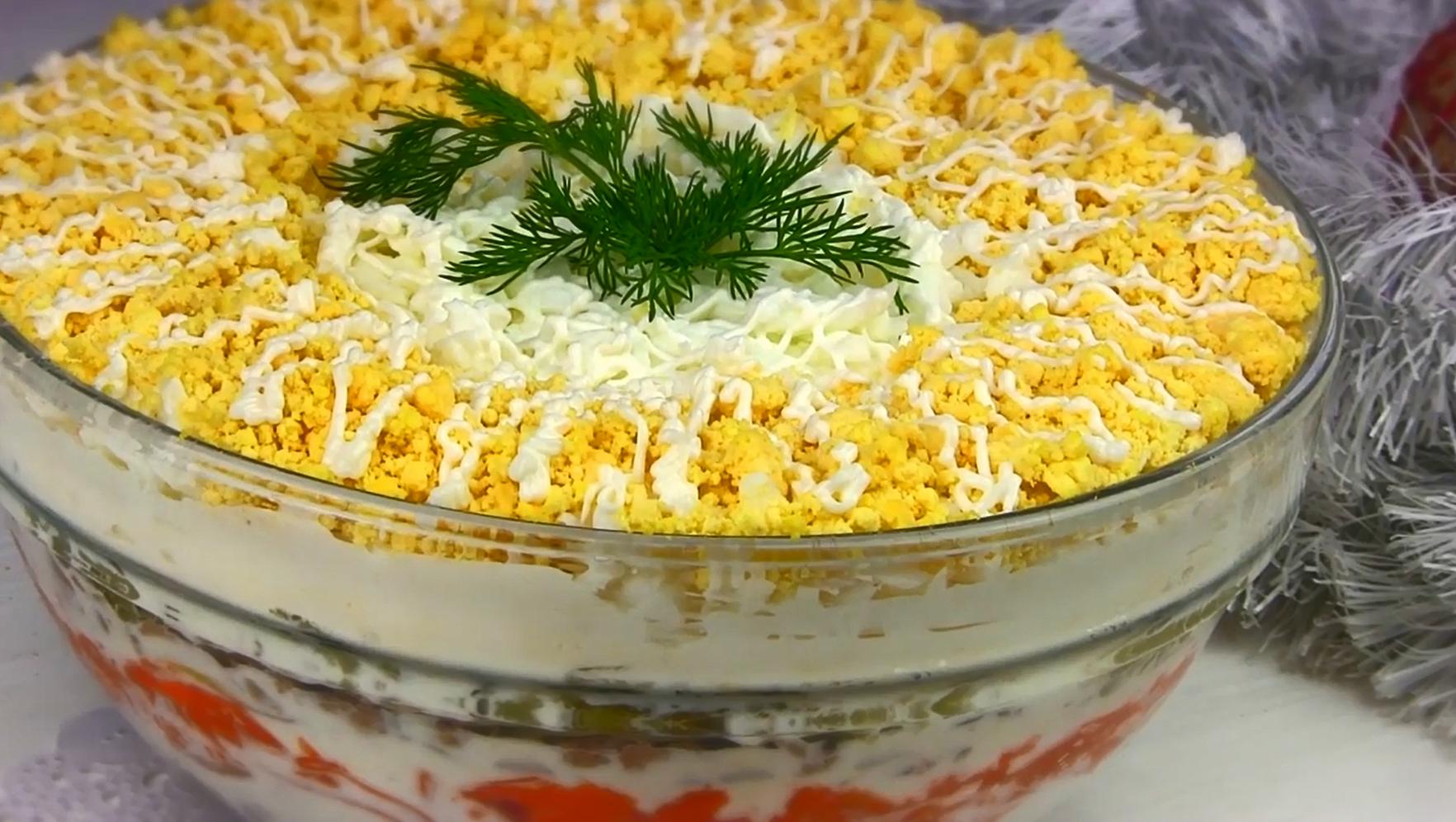 Салат белая ночь рецепт с фото пошагово один