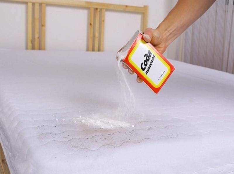 сода для чистки матрасов