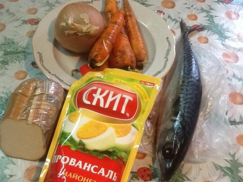 рыбный салат ингредиенты