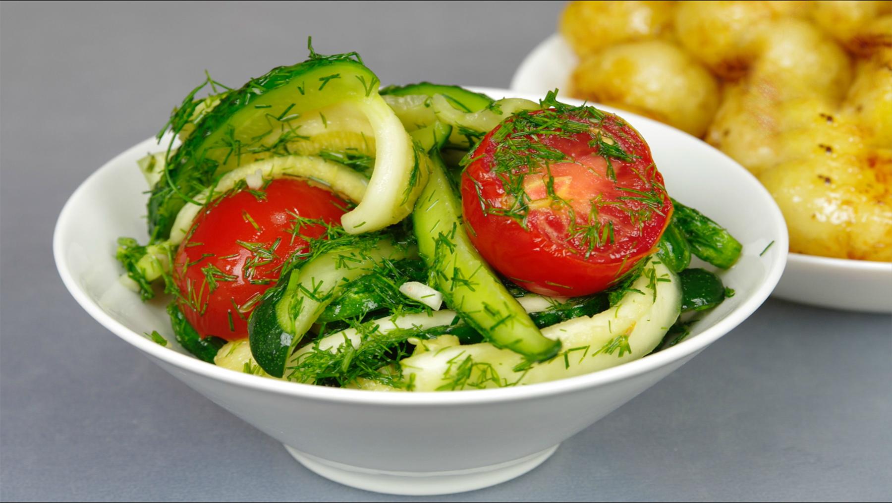 Малосольный салат за 12 часов