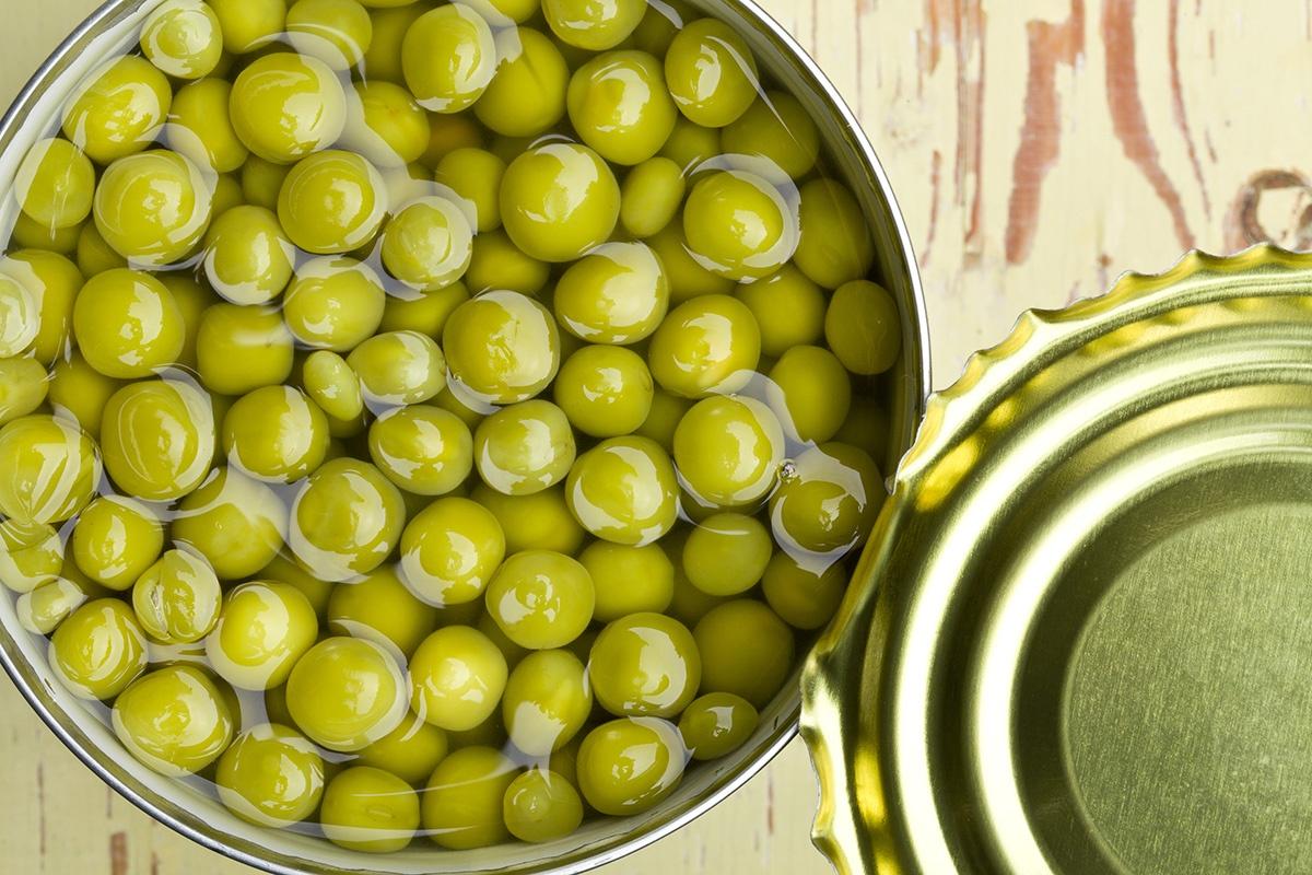Зелёный горошек консервированный