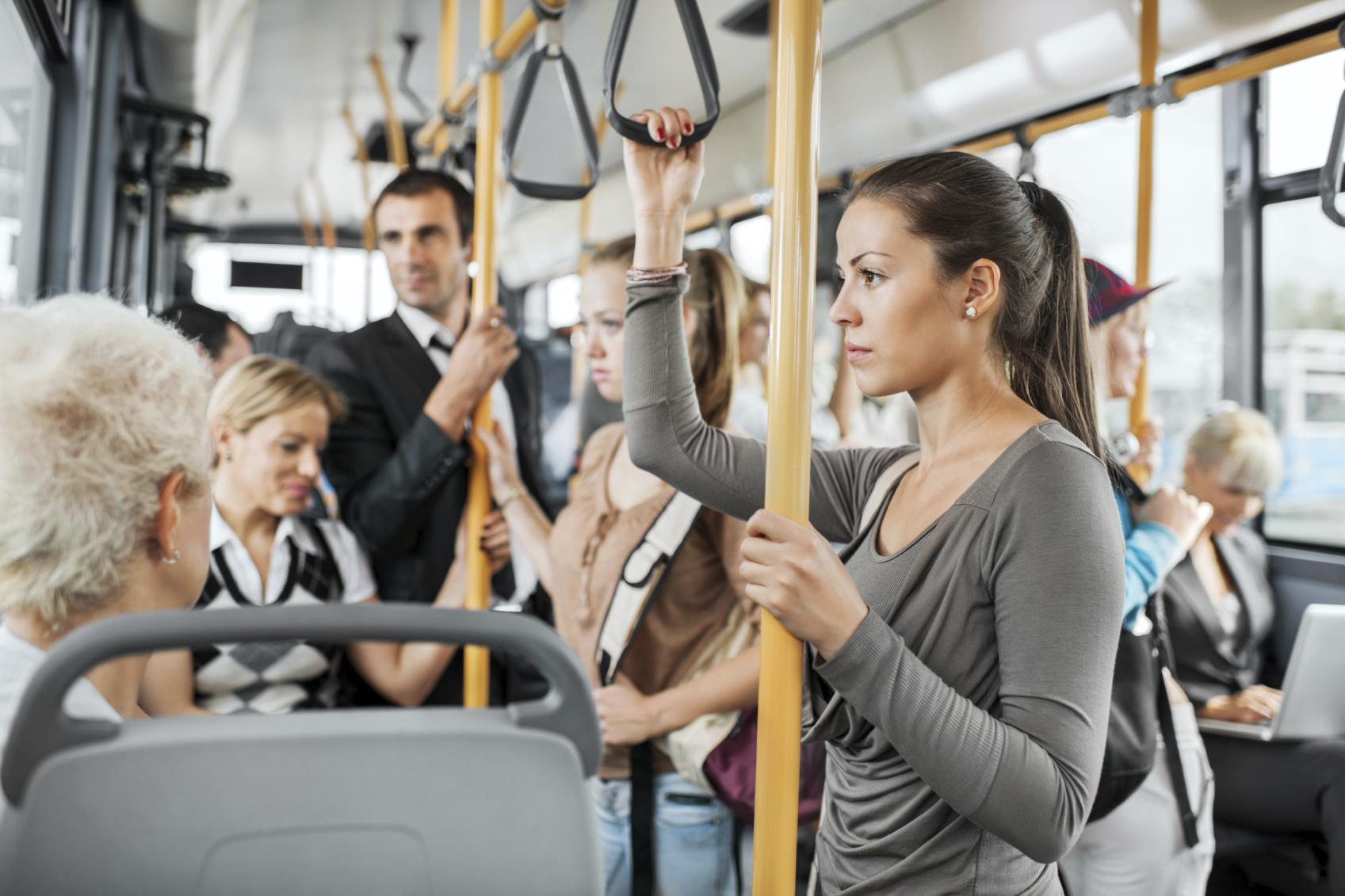 В общественным транспортом