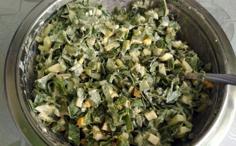 Салат из конского щавеля