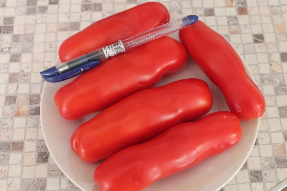 Тепличный сорт помидоров с причудливыми плодами
