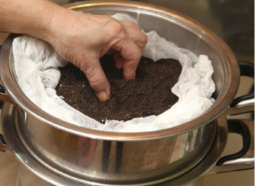 Пропаривание почвы для рассады