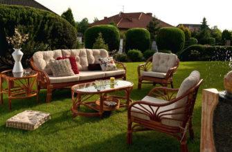 Как правильно подобрать мебель для сада по его материалу