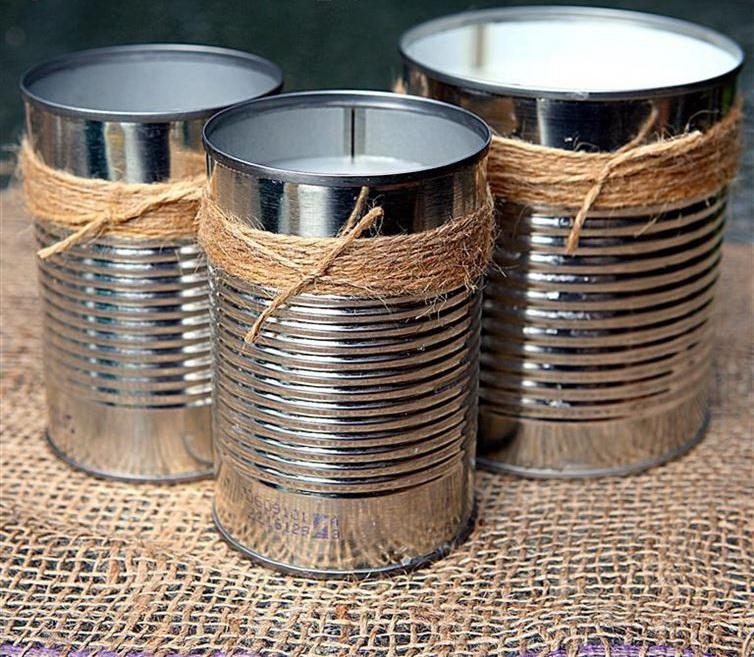 Рассадные стаканчики металлических баночек