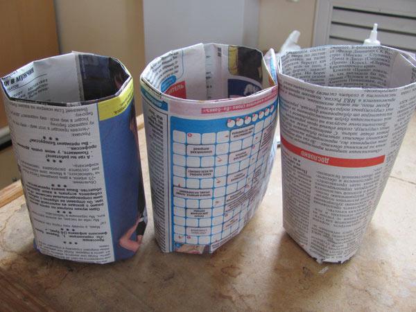 Стаканчики для рассады из газеты