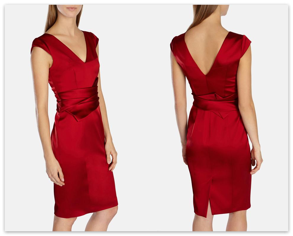 Сатиновое платье-футляр от Карен Миллен